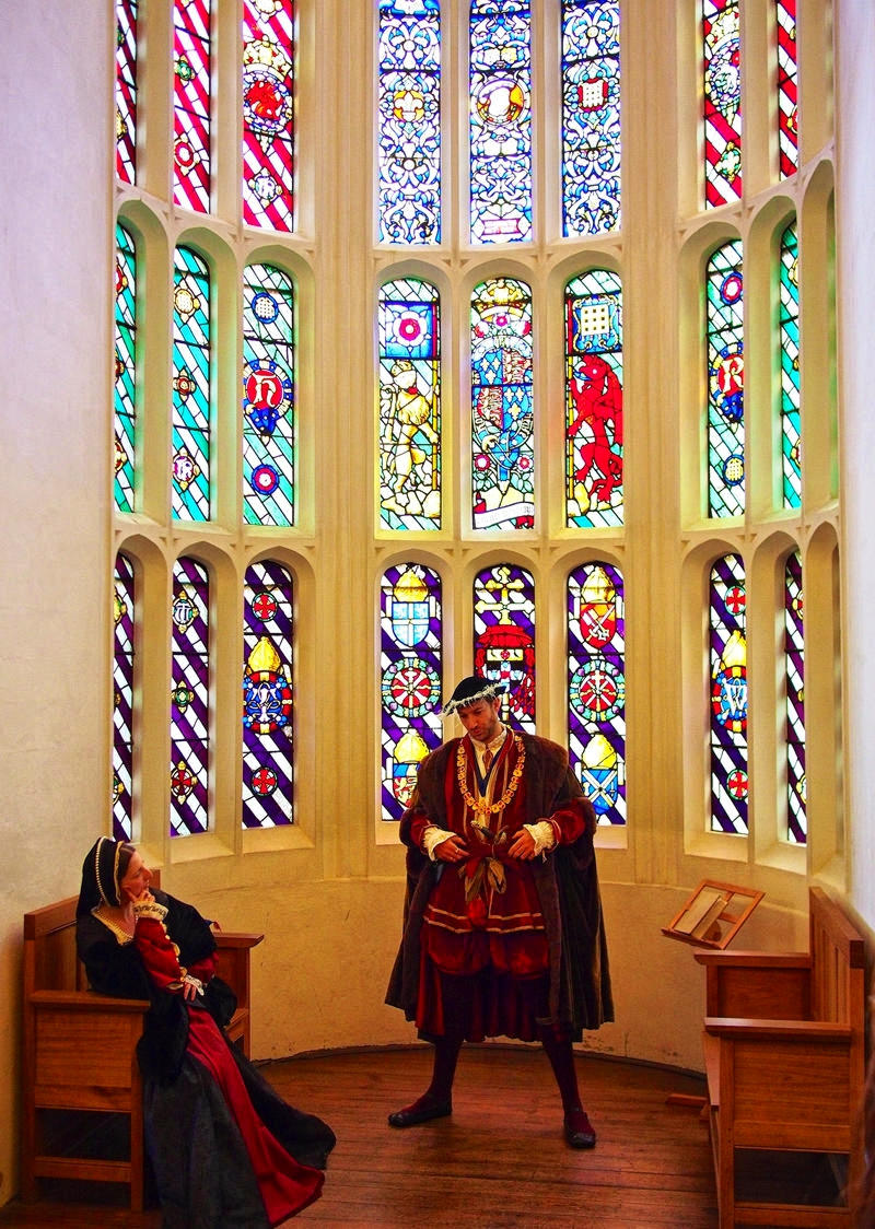 Stained glass window in the Great Watching Room. Credit David Farquhar