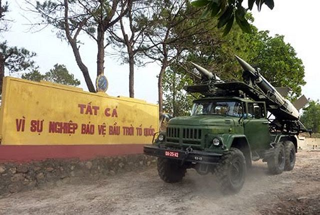 Vietnamese Army S-125 ground-to-air missile on ZIL truck