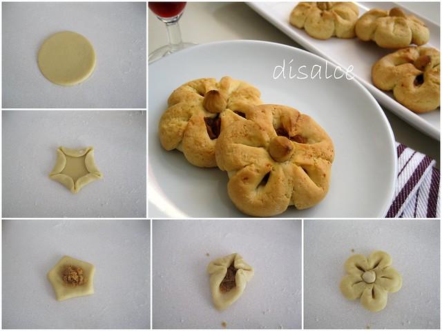 fındık ezmeli çiçek kurabiye