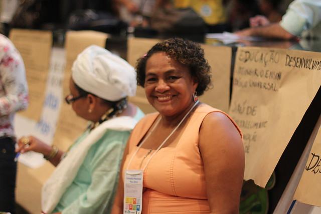 Uma participante da Consulta no Amazonas. Foto: ONU/Juliana Wenceslau