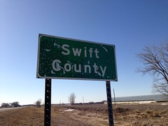 Swift County - Eastern border on US Highway 12