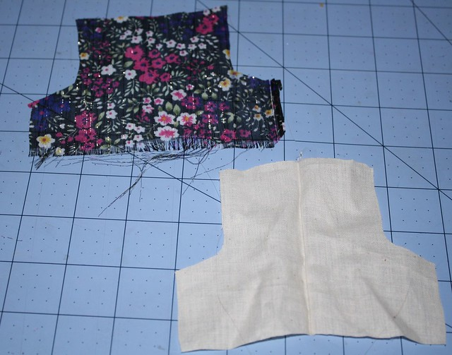 cut out top pieces