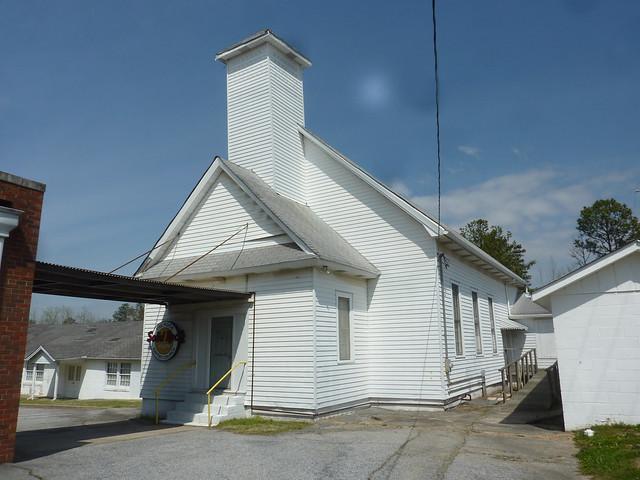 P1180396-2013-03-30-The-Rock-Baptist-Church-Rex-Georgia-Old-Frame-Steeple
