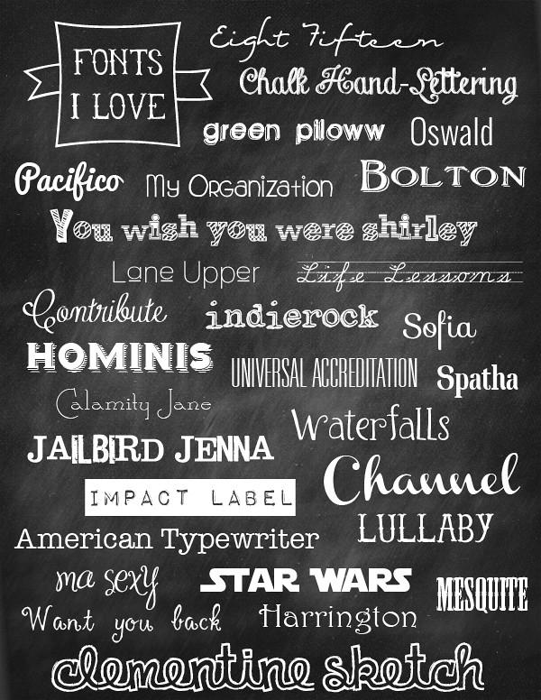 fonts I love