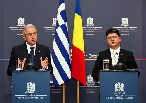 Επίσημη επίσκεψη ΥΠΕΞ Δ. Αβραμόπουλου στη Ρουμανία, με τον ΥΠΕΞ Ρουμανίας κ. Titus Corlatean (4/4/13)