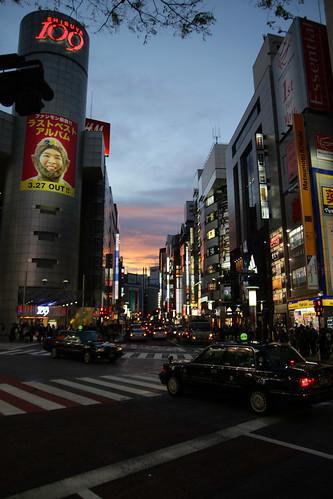 Shibuya dusk