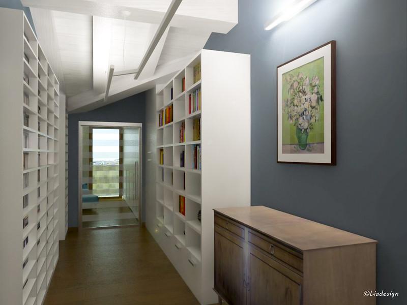 Forum sospensione per corridoio biblioteca mansardata - Mobili da corridoio ...