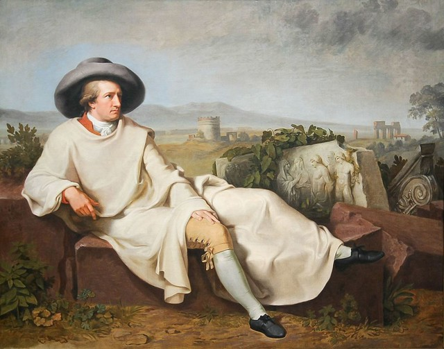 Tischbein Johann Heinrich Wilhelm, Goethe dans la campagne romaine, 1787, huile sur toile, H. 164 x L. 206 cm, Francfort, Städel Museum