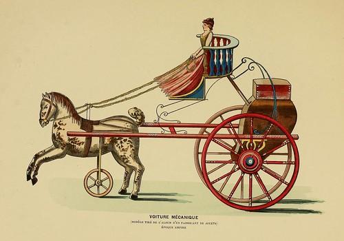 015-Coche mecanico epoca Imperio-Histoire des jouets….1902- Henry René d' Allemagne