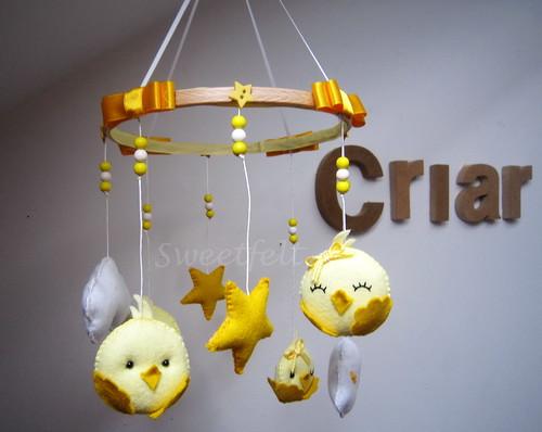 ♥♥♥ Mobile passarinhos... by sweetfelt \ ideias em feltro