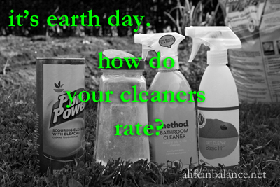 Green Cleaners for Earth Day