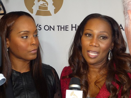 Andrea Hunte and Yolanda Adams