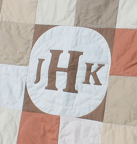 How To Make A Monogram Quilt Block Waterpenny Quilts