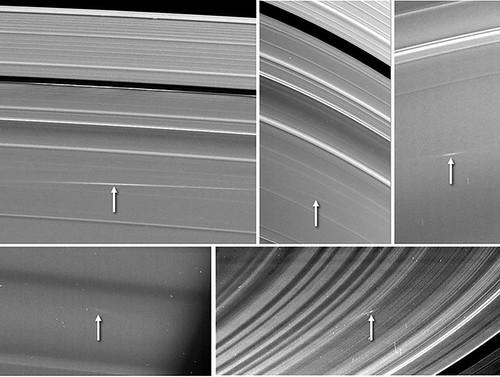 Saturno - impatti sugli anelli by NASA Cassini
