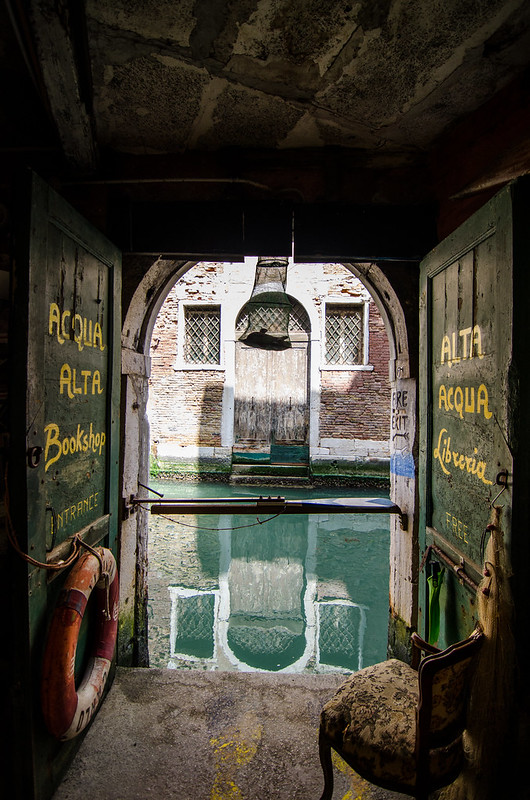 The most beautiful bookshop in the world, aka Libreria Acqua Alta in Venice.