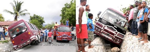 Accidente autobús en Azua
