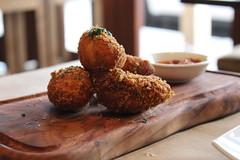 meal, croquette, fried food, produce, food, dish, cuisine, meatball, fast food, falafel,