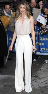Ellen Pompeo White Trousers Celebrity Style Women's Fashion