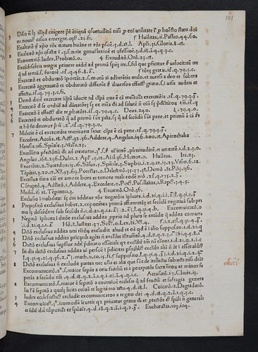 Marginal annotation in Petrus de Bergamo: Tabula operum Thomae Aquinatis