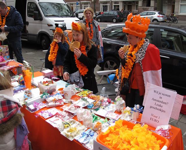 Children selling goods