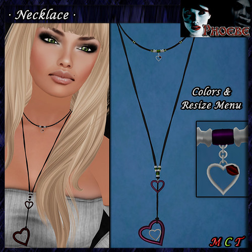 *P* Hearts Necklace ~Colors Menu~