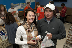Jason and Amanda Dufner have partnered with the Campus Kitchen at Auburn University and the Office of Public Service to feed hungry children in Lee County through the Blessings in a Backpack program.