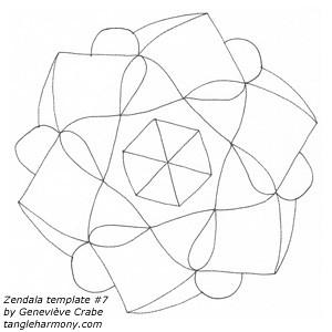 Mandala template #7