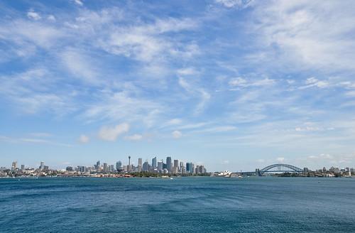 city travel blue sea summer water skyline skyscraper nikon cityscape harbour oz sydney australia unesco nsw highrise newsouthwales australien harbourbridge downunder tarongazoo sydneyoperahouse d90 sydneyharbournationalpark