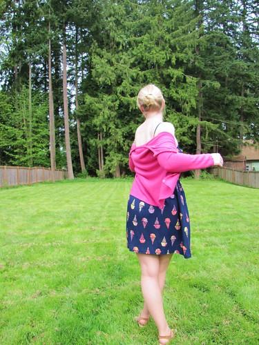 back of ice cream dress