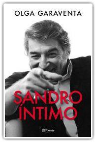 Portada el libro Sandro Intimo escrito por Olga Garaventa.