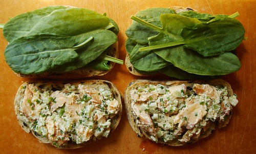 Smoked Fish Sandwich: Sorrel & Fish Salad