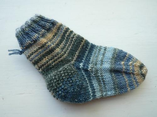 Blue var. baby sock pair