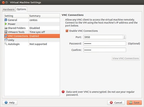 How to enable VNC remote console in VMware Player - Xmodulo