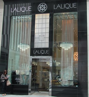 Patient Woman. Lalique Boutique, Madison Ave.