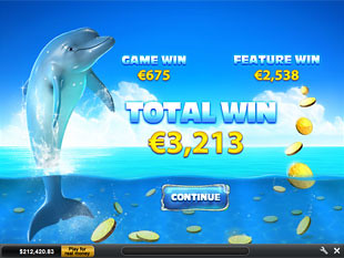 free Dolphin Cash free spins feature