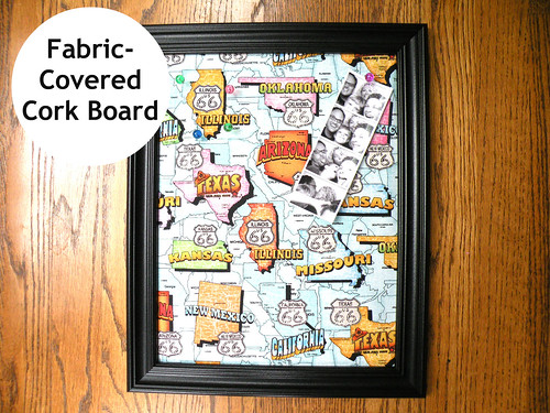 4my3boyz Fabric-Covered Cork Board