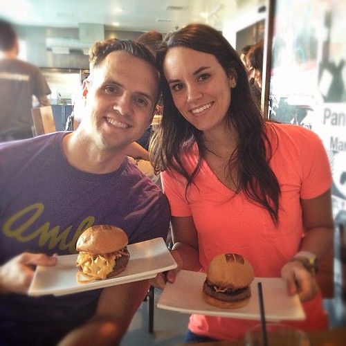 One of the BEST burgers,Umami Burger, with my BEST man @cristobaljones  Thanks Steven and Sophia! #slashburger