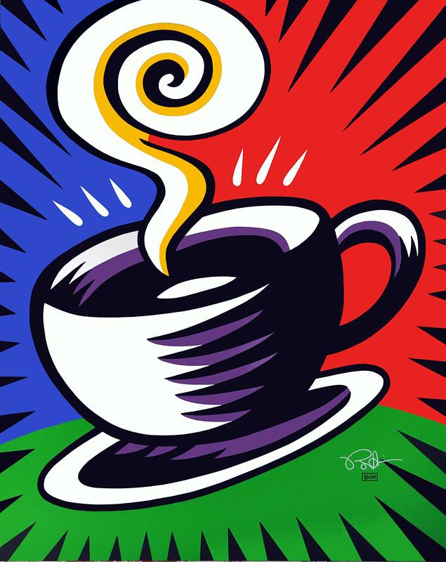 PITC Burton Morris Coffee Cup Multi color.HR