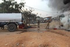 Uvira, Province du Sud-Kivu, RD Congo : Grâce à la prompte intervention de la Force de la MONUSCO à travers son contingent pakistanais, un incendie survenu dans la Cité d'Uvira, a pu être maitrisé le samedi 20 aout 2016.