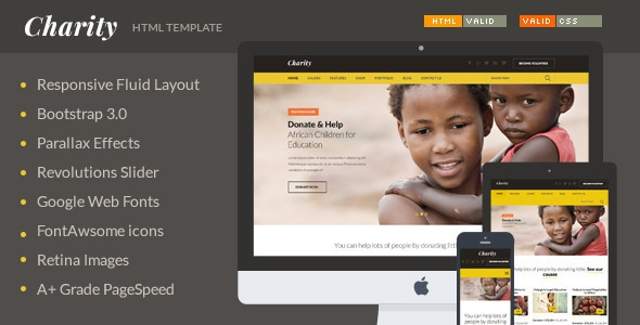 Charity – Nonprofit NGO Fundraising HTML Template