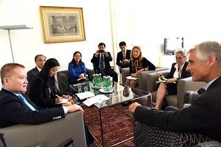 Generalsekretär Linhart trifft  Chinesischen Vize-AM LIU Haixing