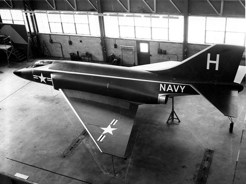McDonnell_F3H-G_mockup_in_1954