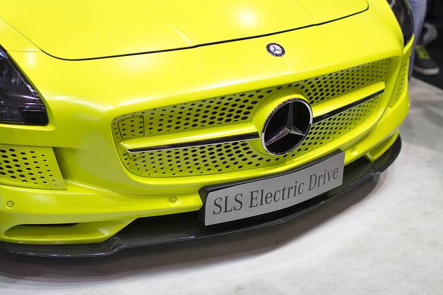 Mercedes SLS Electic Drive - Motor Show Poznań