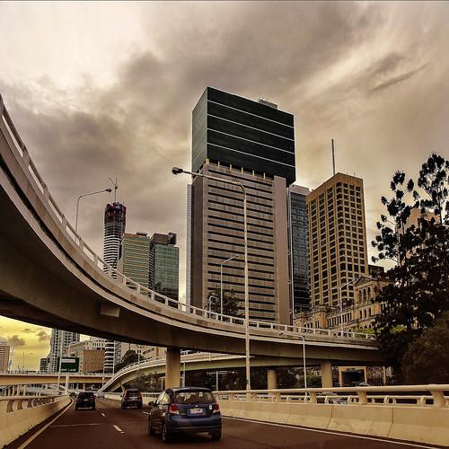 city skyline landscape cityscape motorway australia brisbane freeway queensland australianlandscape brisbanecity cityskyline luciestopgallery