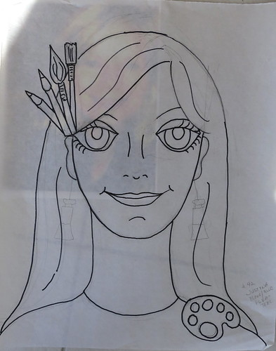 Lady #42 - Justyna - the drawing