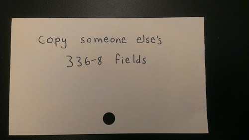 copy someone else's 336-8 fields