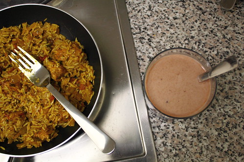 Chicken Biryani & Chocolate milk
