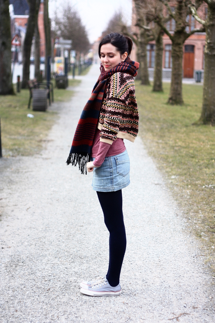 retail prices delicate colors buying now Aerobics Chic, Cropped Sweater, Denim Mini Skirt - THE ...