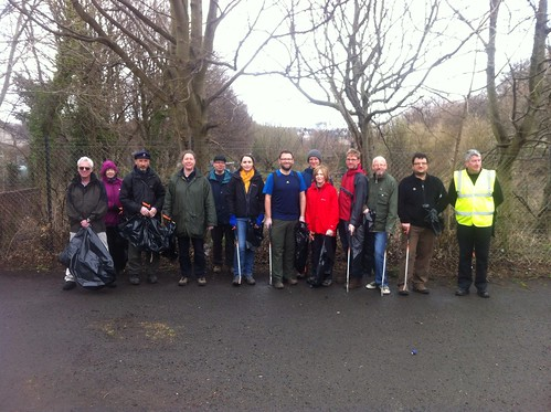 At the start of the St Marks Park clean-up