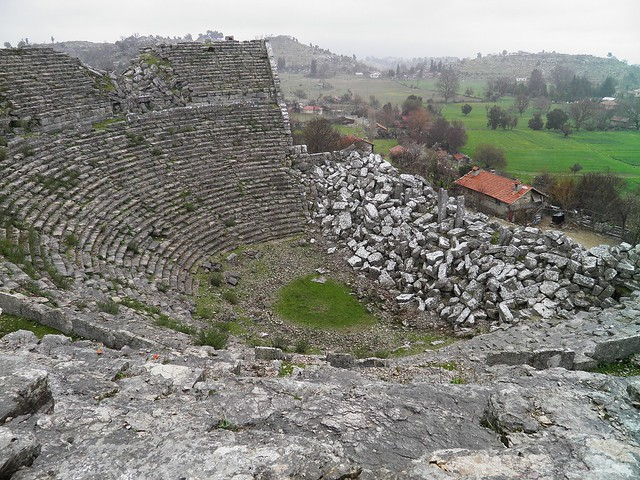 The Roman Theatre, built in the middle of 2nd century A.D., Selge, Pisidia, Turkey